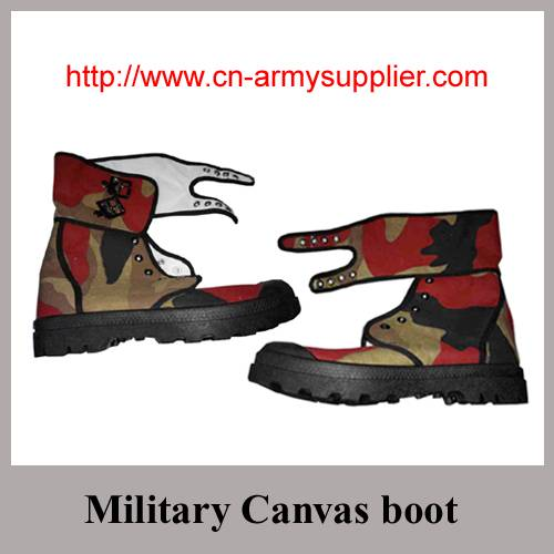 Camouflage Army Military Canvas boot