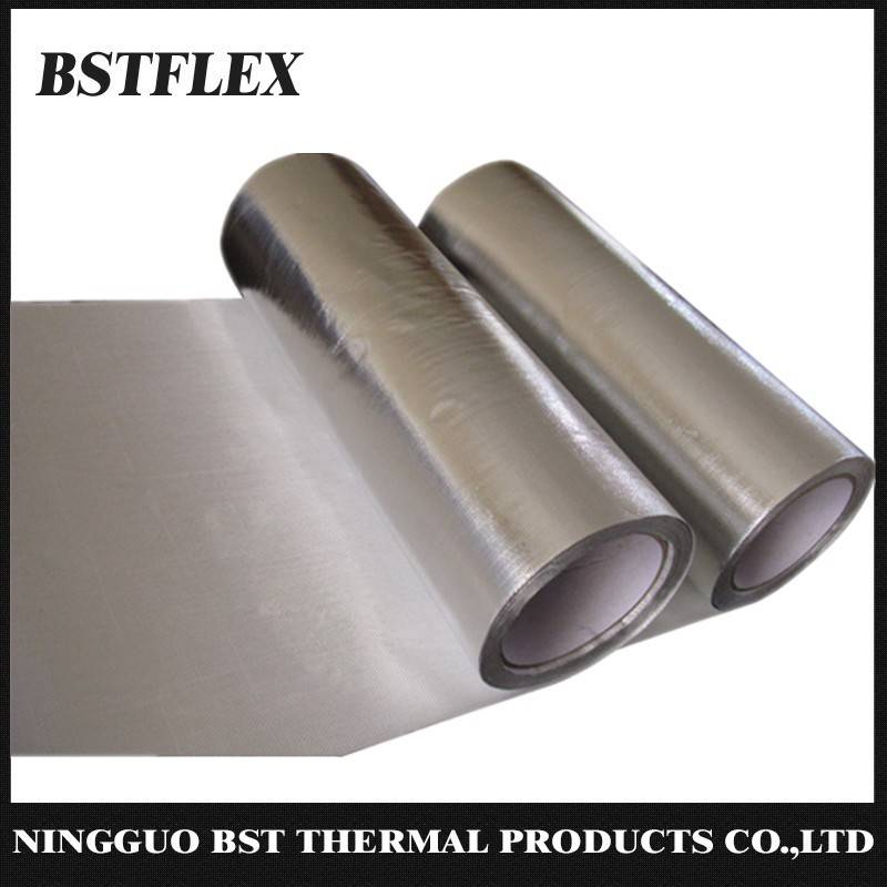 Aluminized Fiberglass Heat Reflective Fabric