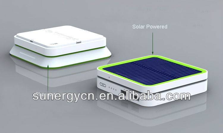 2015 Fashionable Portable addible USB Charger Power Bank 6000Mah Mobile Solar Charger
