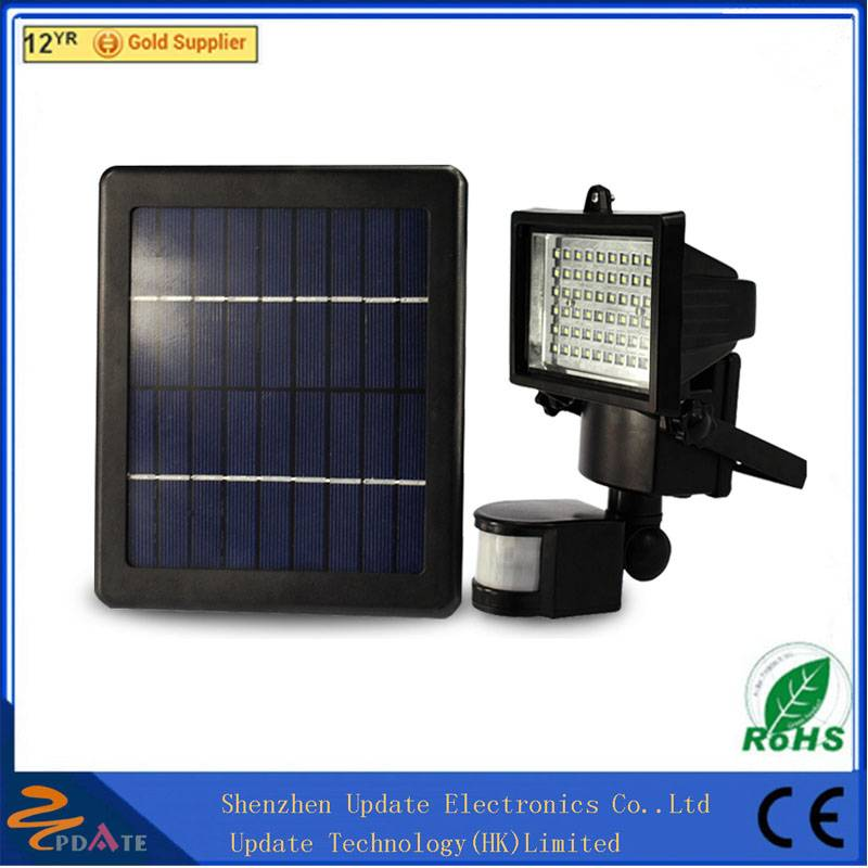 60led Solar Powered Motion Sensor Light Outdoor Security Flood Spot Light