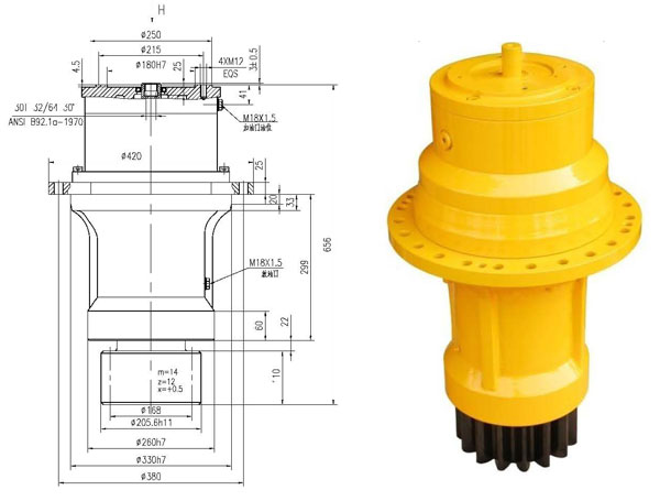 ZTB130B Slew drive/ reducer for tower crane