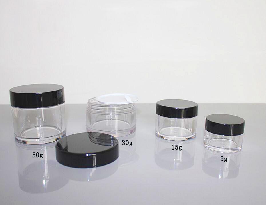 Clear PETG jar, cosmetic jar, cream jar 5g-15g-30g-50g-80g