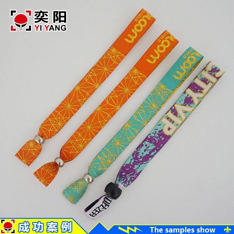 customized cheap fabric armband wrist bands embroidery wristband