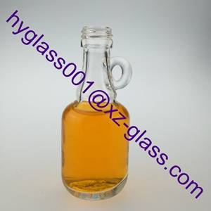 high quality 3oz glass liquor bottle with embossed logo manufacturer