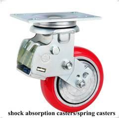 Heavy duty shock absorption caster wheel