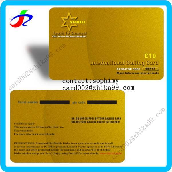 prepaid recharge calling phone scratch card