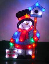 EVA&LED Christmas decorative ligts,Snowman with Road Signs,xmas lights