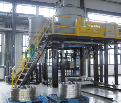 Vertical Bottom Loading Vacuum Annealing Furnace