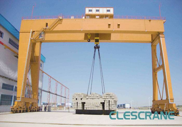 CWG Series double girder gantry cranes with heavy Duty Winch