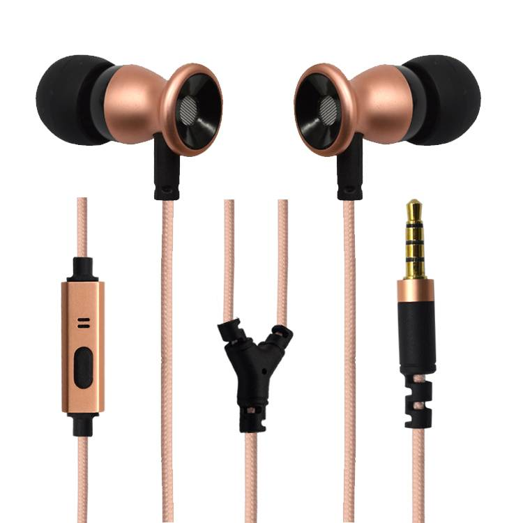 Mobile Metal earphones with microphone