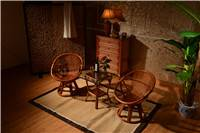 graceful rattan leisure table and chair