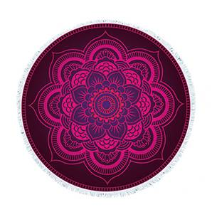 RS34 Deep purple totem round towel