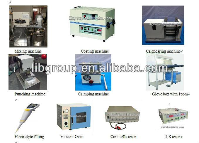 Li-ion Battery Turn key project coin cell Lab. production line