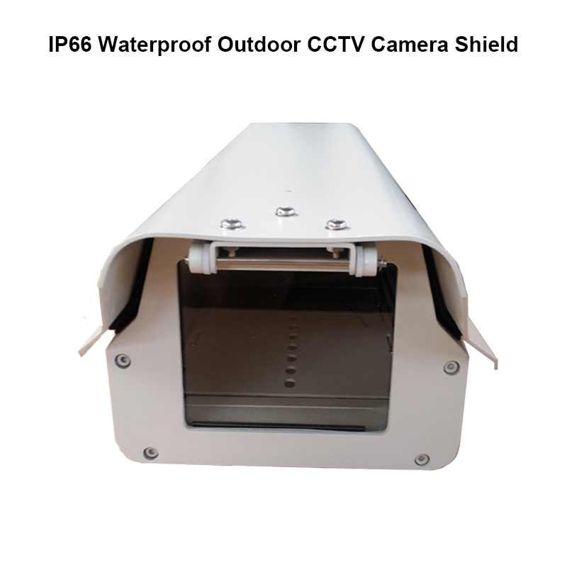 Outdoor cctv camera housing IP66 waterproof monitoring security shield cover aluminium sunshield