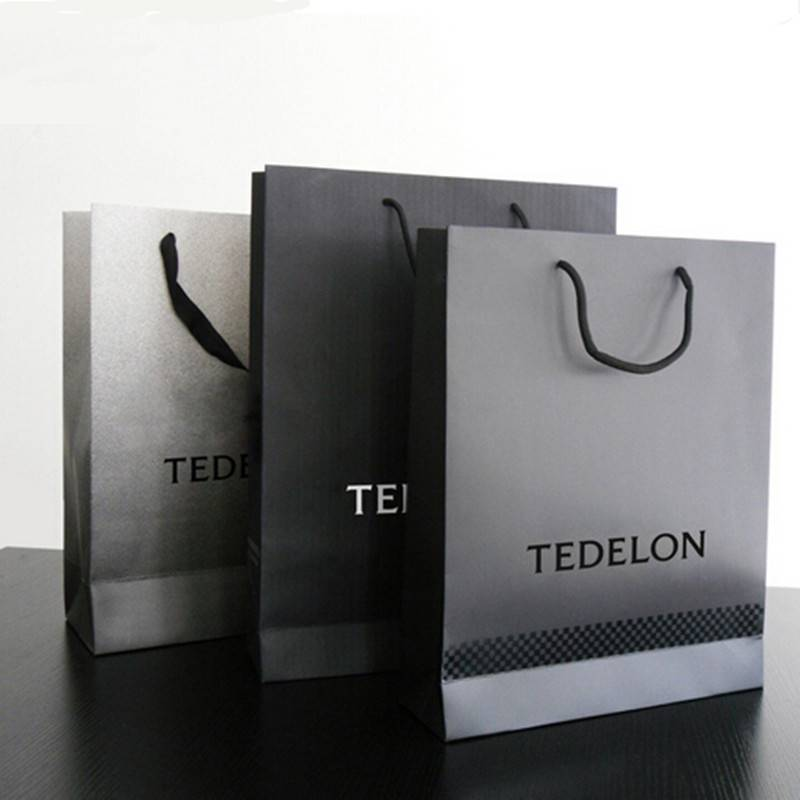 Luxury paper shopping bag with handle make in China