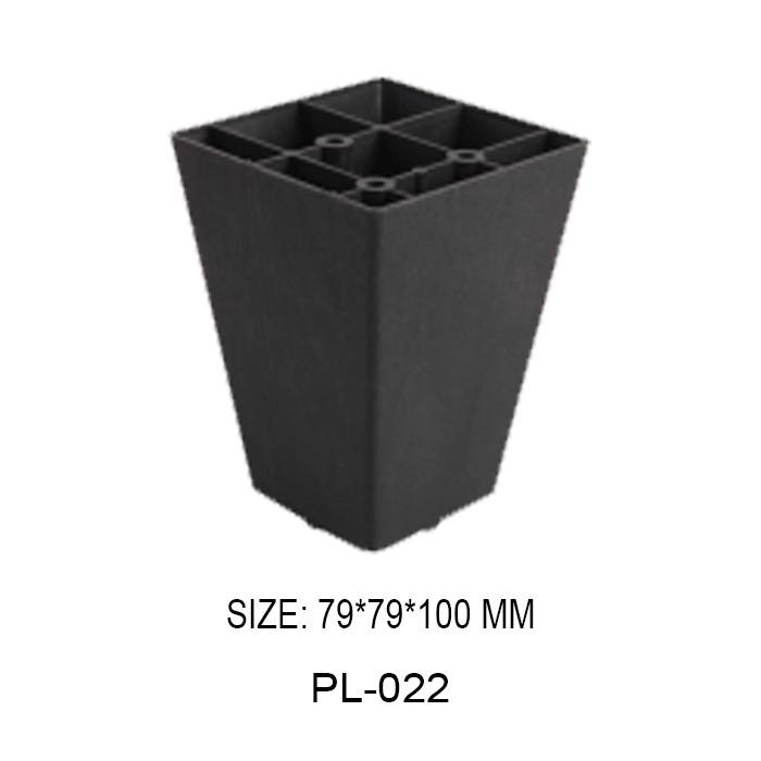 100mm high black furniture leg injection plastic trapezoidal frame sofa leg