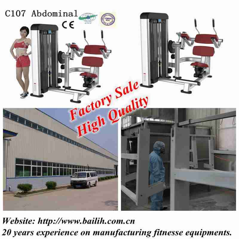 Bailih High Quality Fitness Equipment C107 Abdominal Machine with Factory Sale
