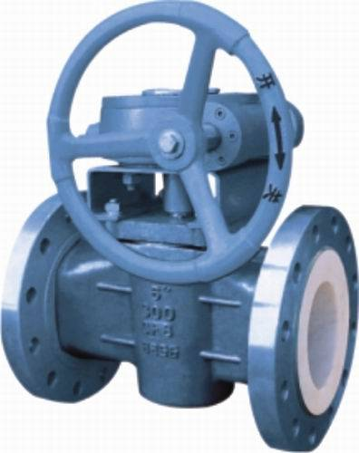 PTFE Sleeve Plug Valve CF8 for gas