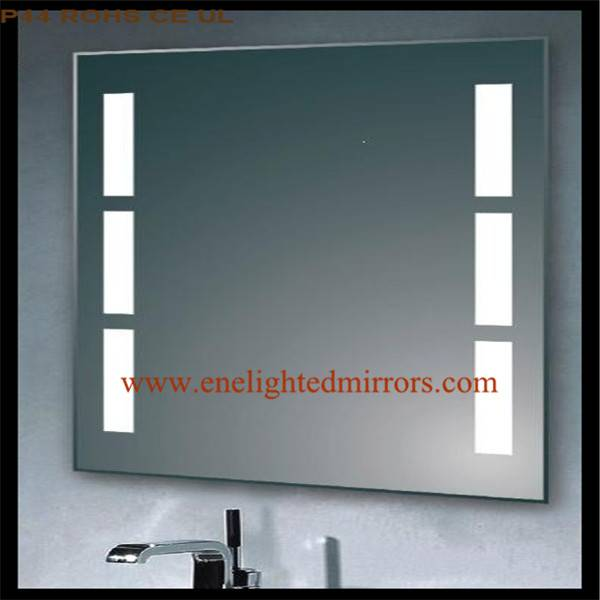 Lighted bathroom mirror produced by ENE lighted mirrors from China accepted custom oem odm