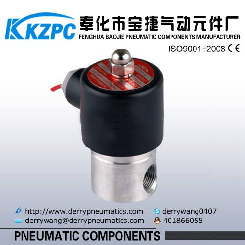 Stainless Steel 24v dc two position solenoid valve