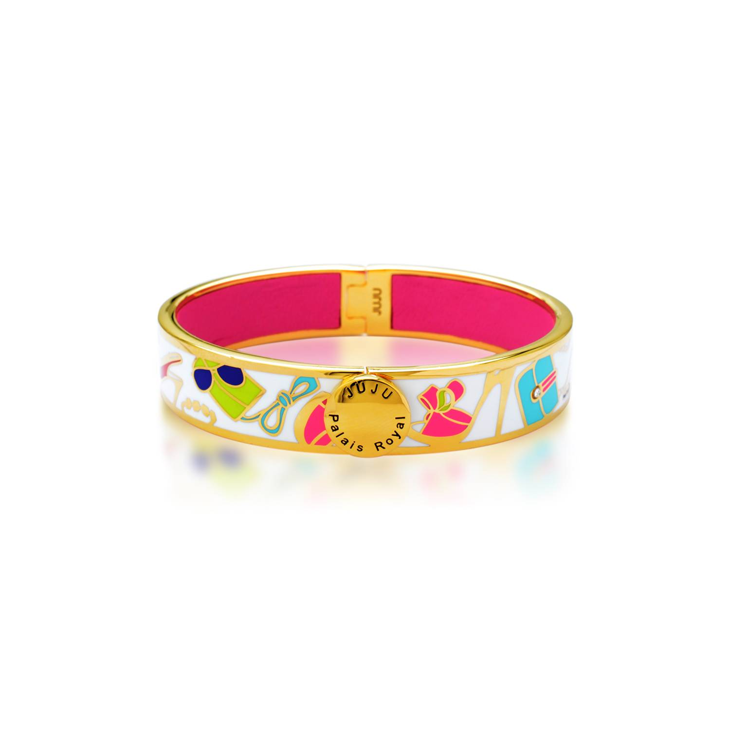 City bangle-18K gold plating metal bangle with enamel