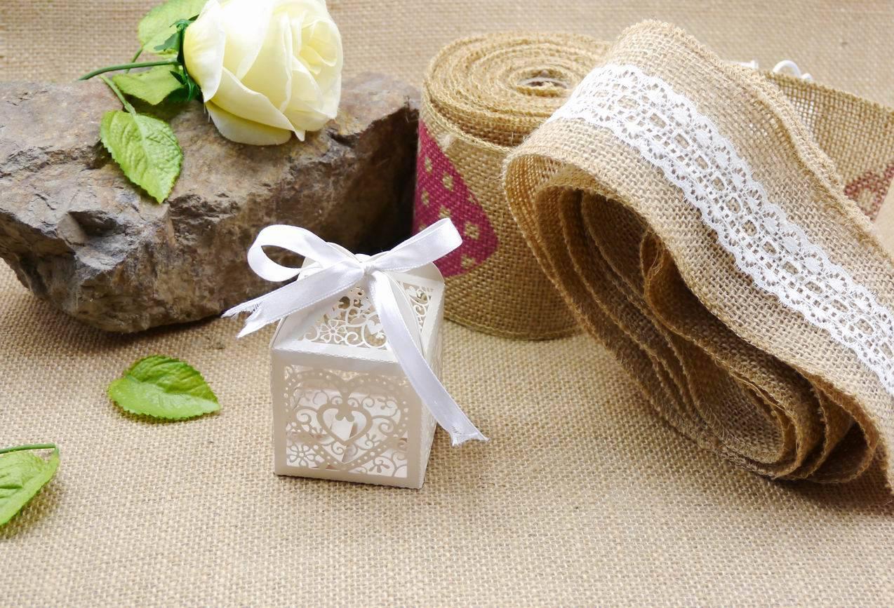 printed jute ribbon for wedding