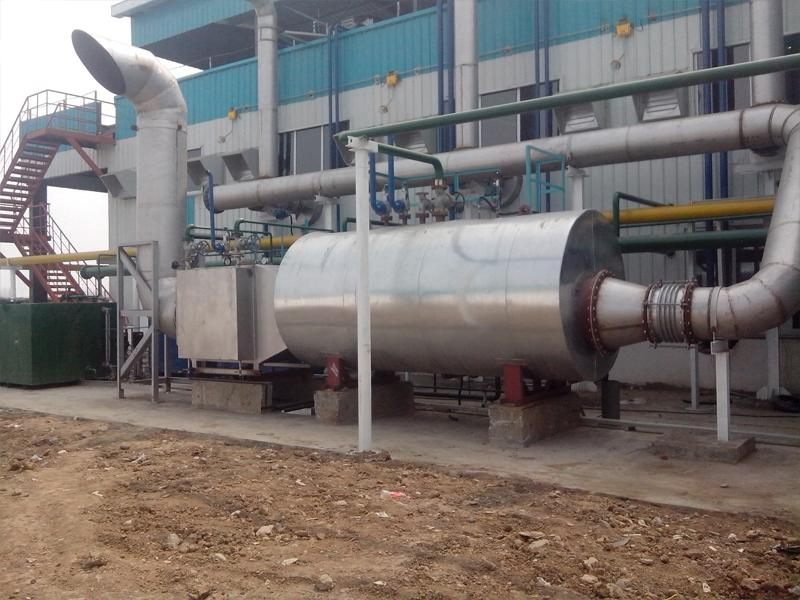 3000KW Caterpillar Biogas Generator Set Exhaust Gas Boiler Steam Boiler