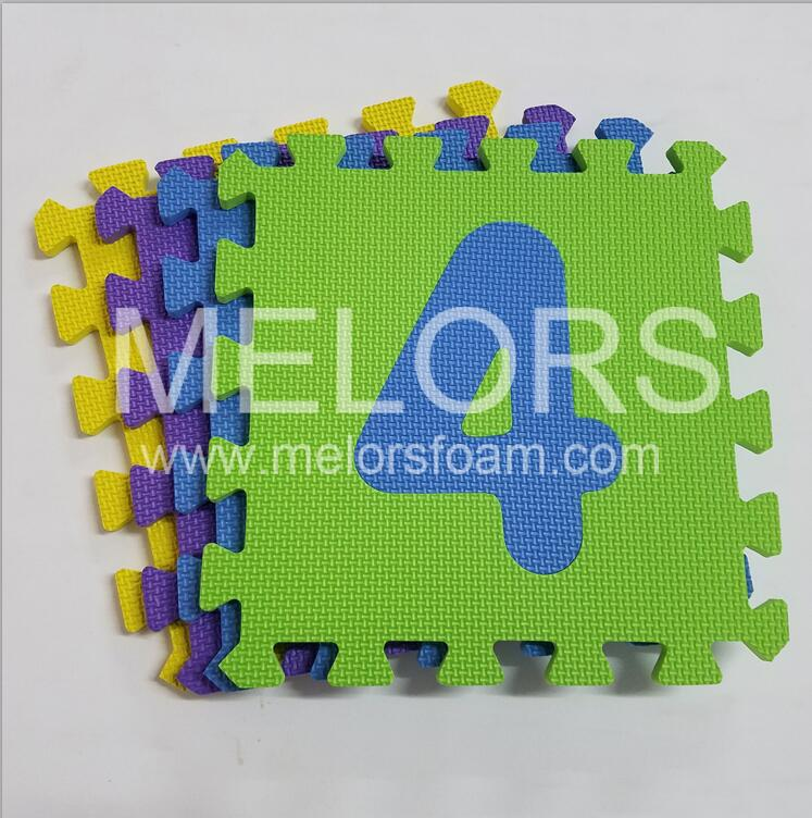 Melors EVA Foam Colorful Safe and Professional Educational Number Puzzle Mat