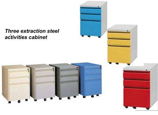 Luo yang  chang  yuan  3  drawer metal  mobile  file   cabinet  with wheels