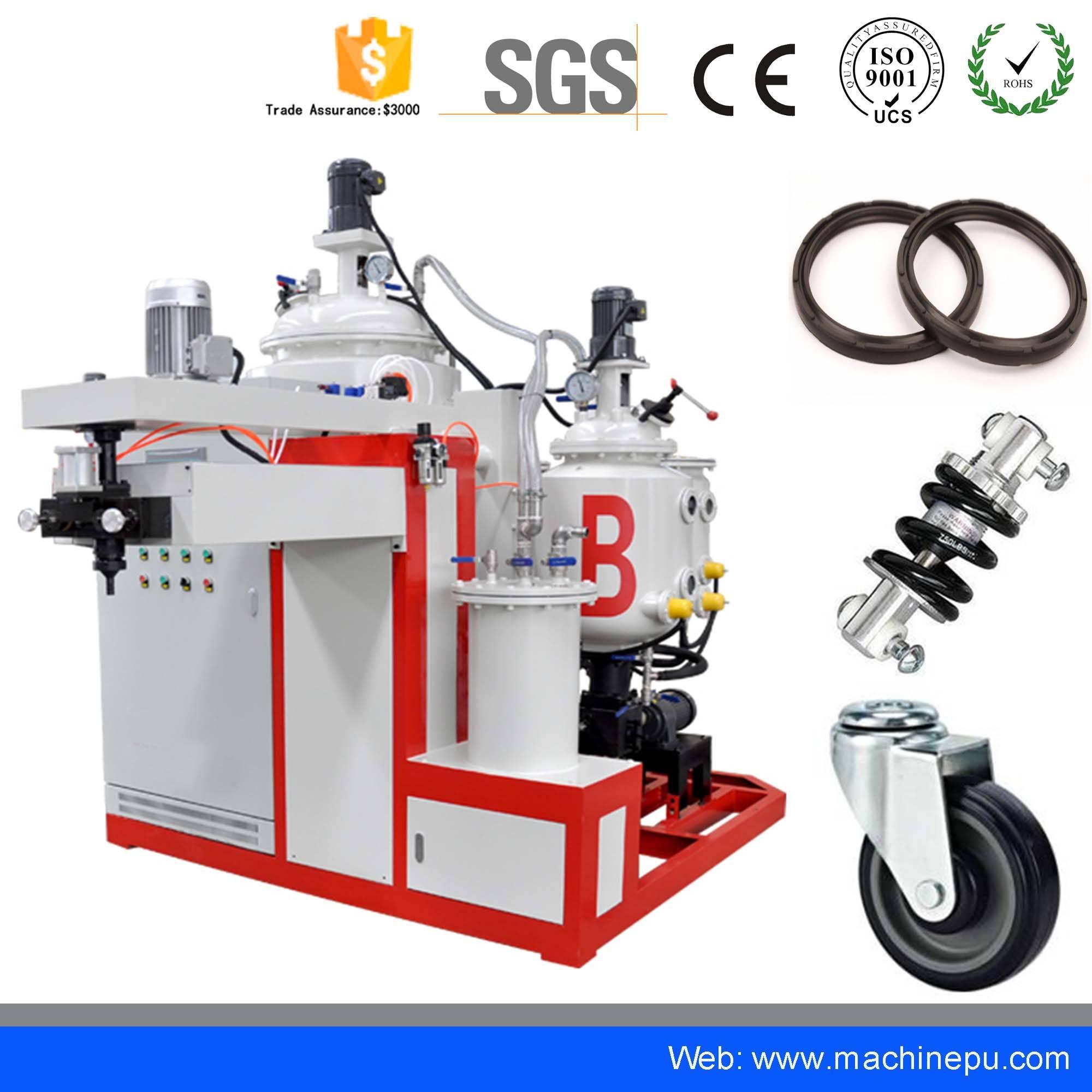 Low price polyurethane pu elastomer casting machine for absorber