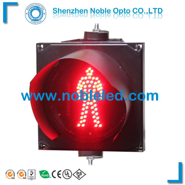 200mm pedestrian crossing traffic lights in red color