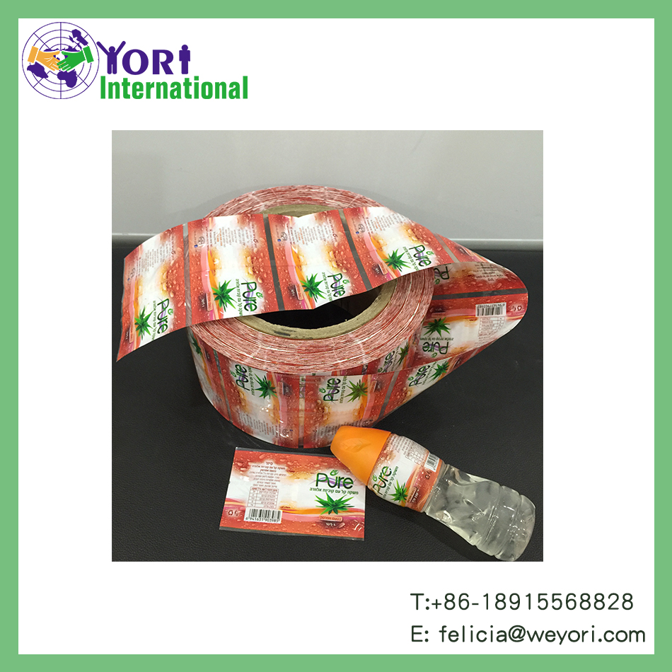 Shrink label for pvc roll custom bottle neck printing with yori brand