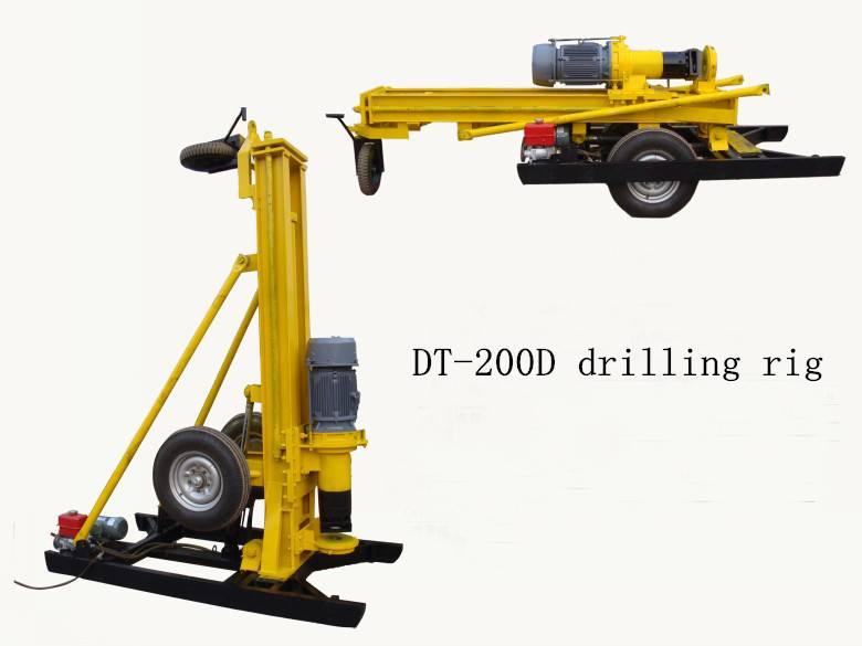 Hard rock drilling rig, DTH drilling rig, air compressor drilling machine