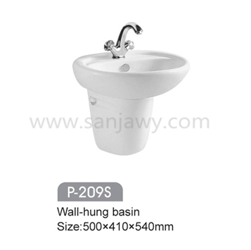 China Factory New Model Bathroom Wash Hand Basin ,Ceramic wall mounted Wash Basin