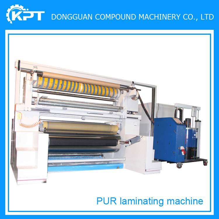 pur hot melt adhesive fabric laminating machine