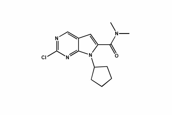 2-chloro-7-cyclopentyl-N,N-dimethyl-7H-pyrrolo[2,3-d] pyrimidine-6-carboxamide