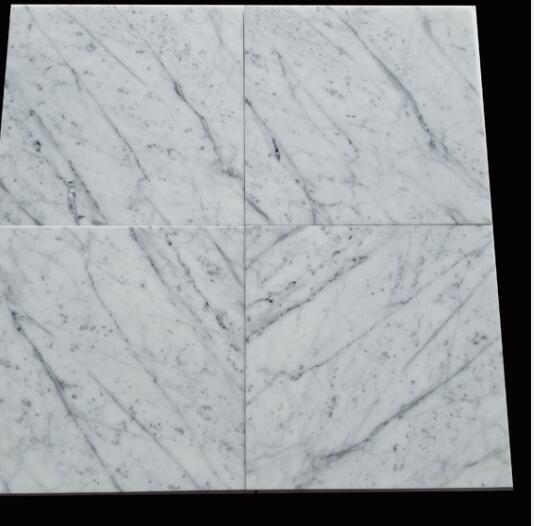 Bianco carrara marble tiles