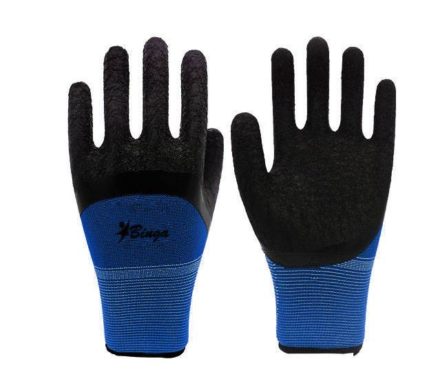 Latex Coated 7G/10G/13G T/C Shell Safety Glove