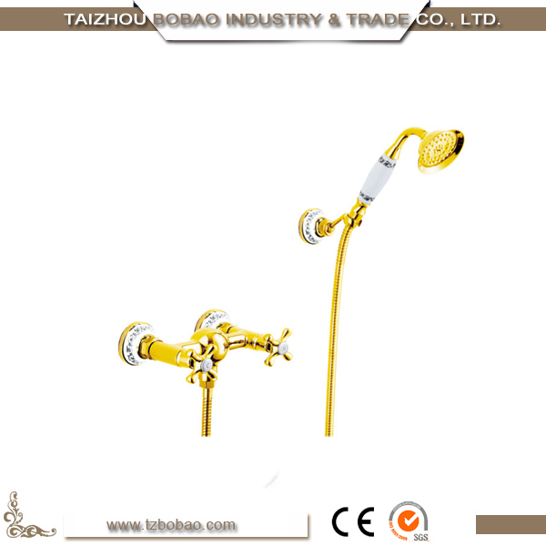 Home Decoration Accessories Antique Brass Bath Mixer Set Bathroom Showers China Supplier