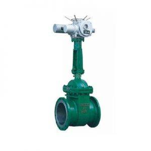 Electric and vacuum power station gate valve
