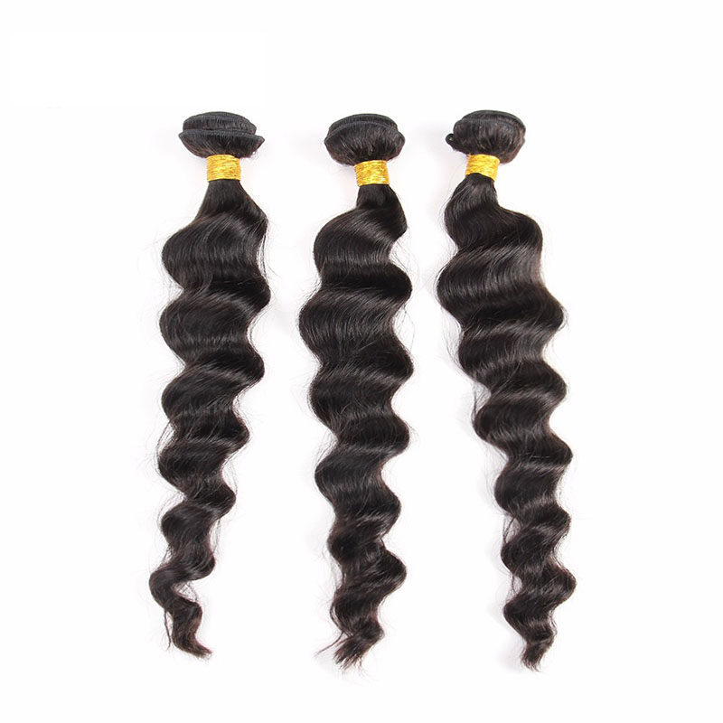 8A Brazilian Loose Wave 3 Bundles Human Virgin Hair Weave