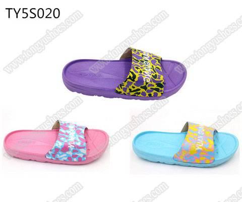 cute printing upper children anti-slip bath sandals