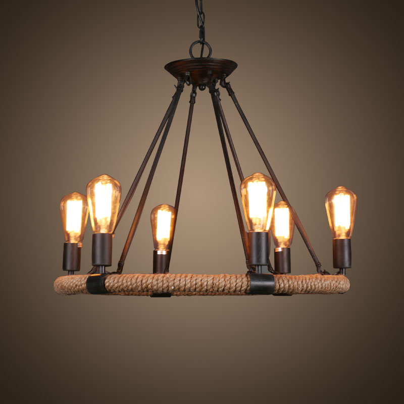 China zhongshan industry pendant light with rope