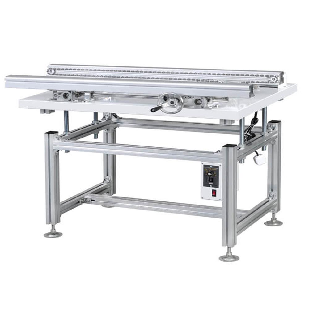 DIP wave solder infeed conveyor for tht line