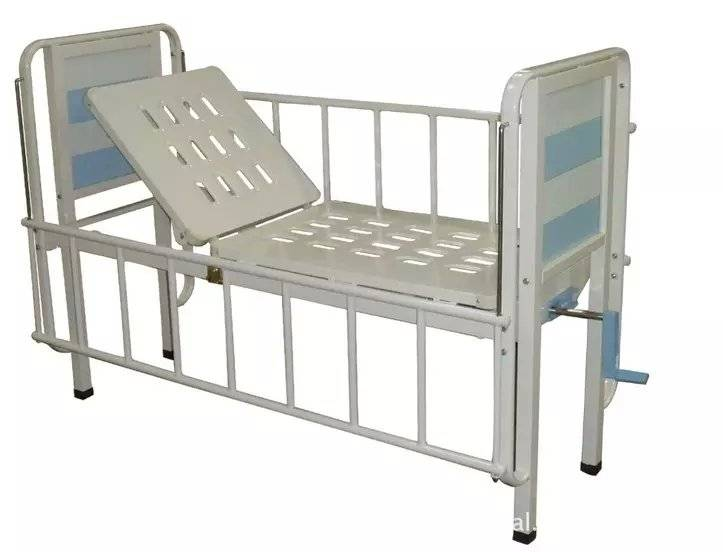 Single crank manual children bed