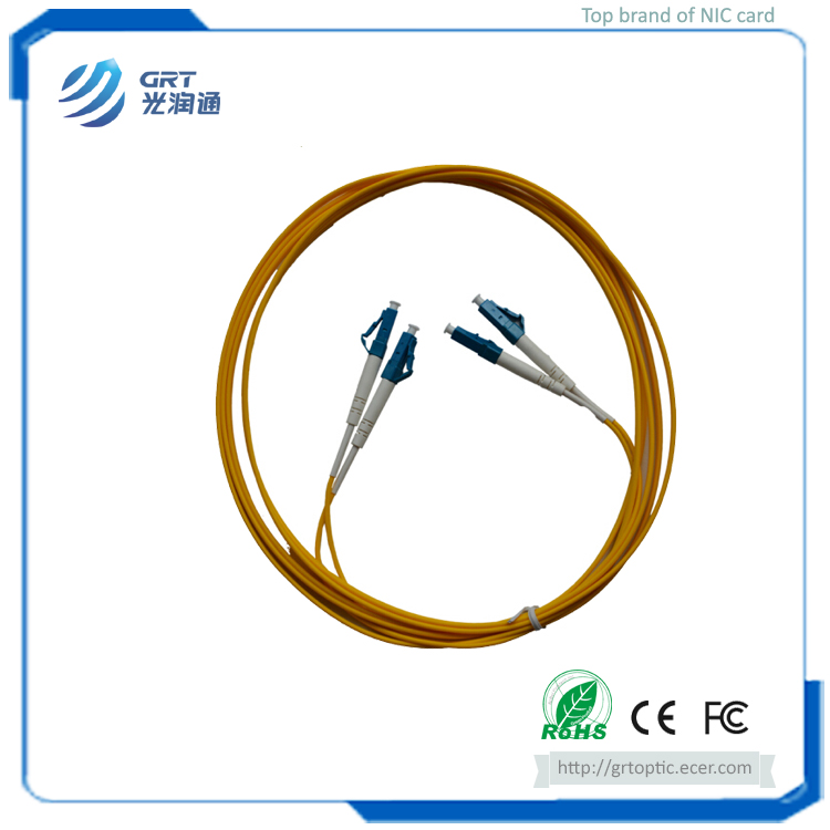 Good repetibility 3m duplex LC-LC connector 1Gb SM fiber optic Patch Cable with SEIKO plug