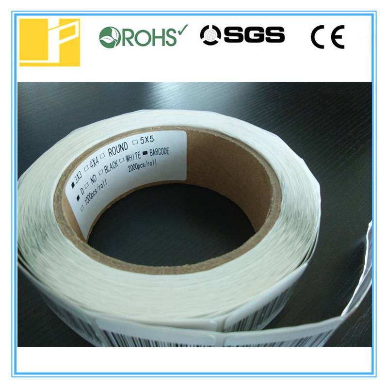 30*30 barcode rf label for cosmetic