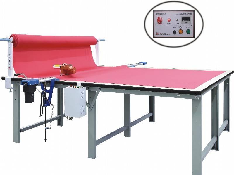 semi automatic cloth end cutter cutting machine