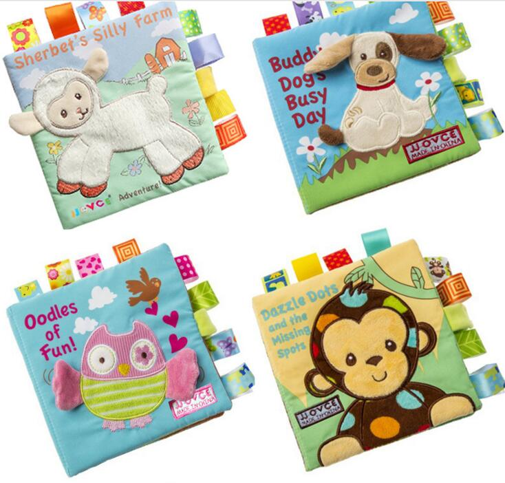 Promotional Soft Series animal Baby Cloth Book