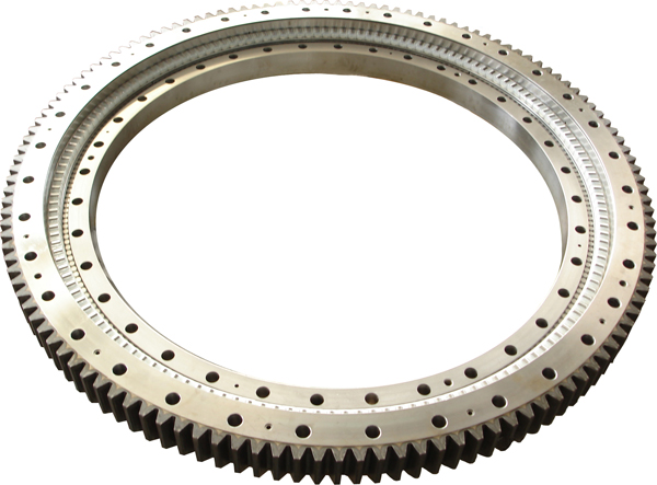 A excavator slewing ring bearing